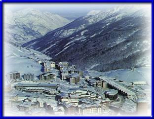 panorama di sestriere, nota località sciistica piemontese