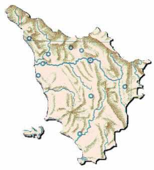 Fiumi Toscana Cartina.Toscana Le Regioni D Italia